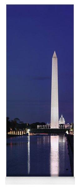 Washington Monument At Sunset Yoga Mat