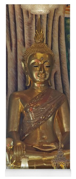 Wat Kaewjamfa Ubosot Principal Buddha Dthb1072 Yoga Mat