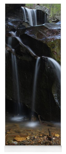 Waterfall On Emory Gap Branch Yoga Mat