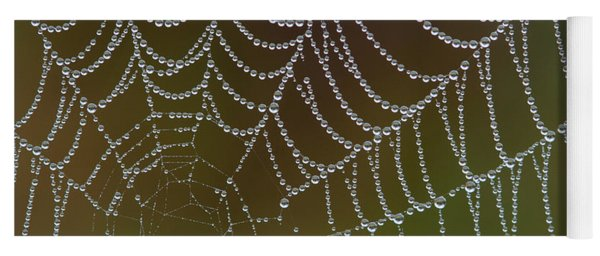 Web With Dew Yoga Mat