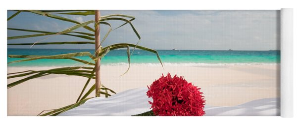 Wedding Bouquet. Maldivian Resort Yoga Mat