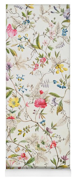 Wild Flowers Design For Silk Material Yoga Mat