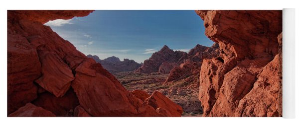 Window On The Valley Of Fire Yoga Mat