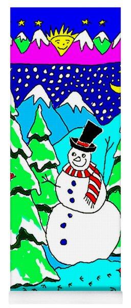 Winter Snowman Yoga Mat