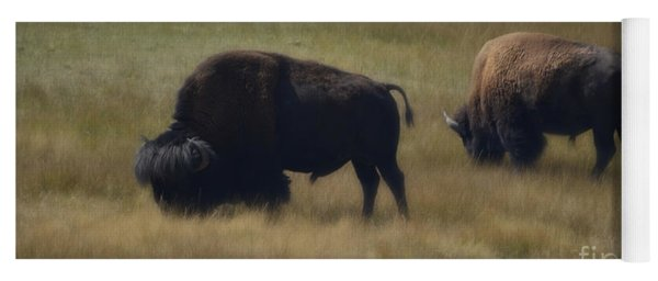 Wyoming Buffalo Yoga Mat