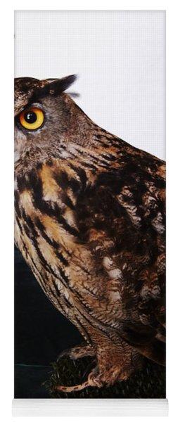Yellow-eyed Owl Side Yoga Mat