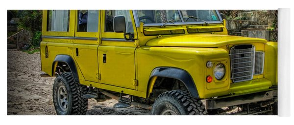 Yoga Mat featuring the photograph Yellow Jeep by Adrian Evans
