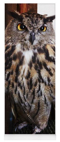 Yellow Owl Eyes Yoga Mat