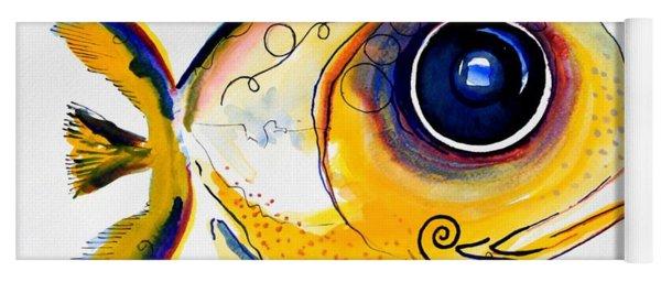 Yellow Study Fish Yoga Mat