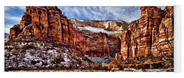 Yoga Mat featuring the photograph Zion Canyon In Utah by Christopher Holmes