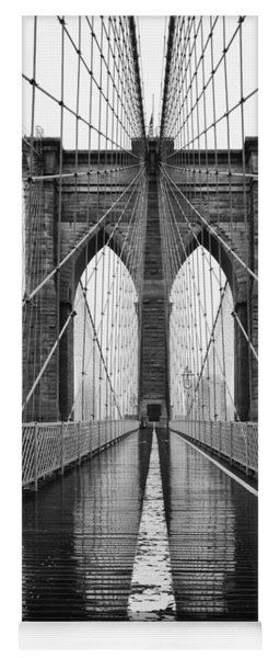 Brooklyn Bridge And Rain Yoga Mat