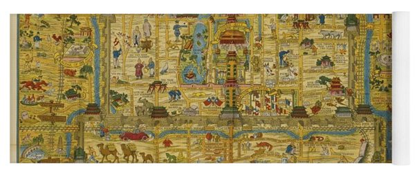 A Map And History Of Peiping Yoga Mat