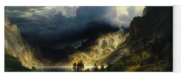A Storm In The Rocky Mountains Mt. Rosalie Yoga Mat