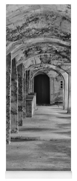 Archway At Moravian Pottery And Tile Works In Black And White Yoga Mat