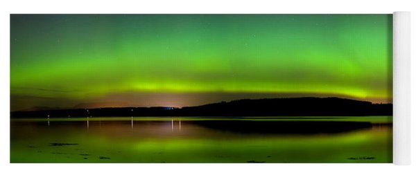 Aurora Over The Beauly Firth Yoga Mat