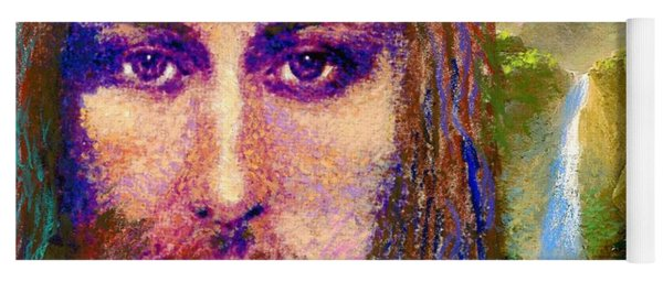Contemporary Jesus Painting, Chalice Of Life Yoga Mat