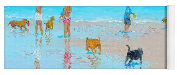 Dog Beach Day Yoga Mat