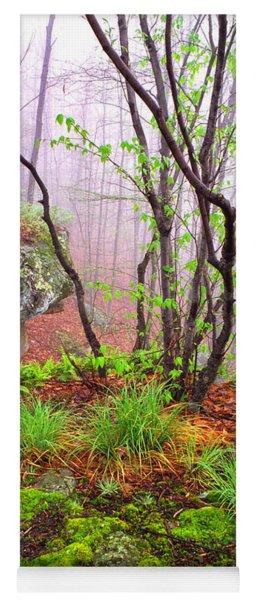 Foggy Spring Morning Yoga Mat