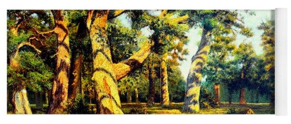 Green Summer-the Oak Forest Yoga Mat