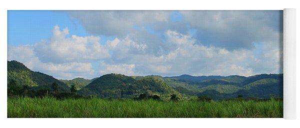 Jamaican Landscape Yoga Mat