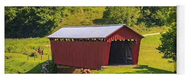 Parrish  Covered Bridge  Yoga Mat
