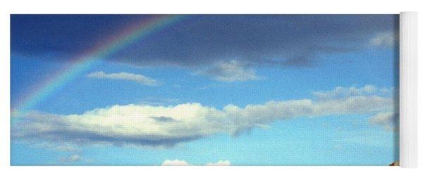 Rainbow Over El Morro Fortress Yoga Mat