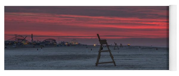 Red Sky In The Morning - Wildwood New Jersey Yoga Mat