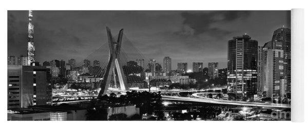Sao Paulo Iconic Skyline - Cable-stayed Bridge - Ponte Estaiada Yoga Mat