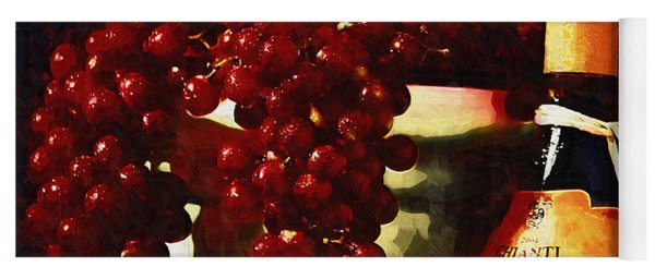 Tuscan Grapes Yoga Mat