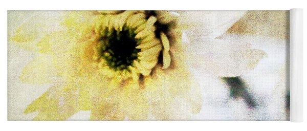 White Flower Yoga Mat