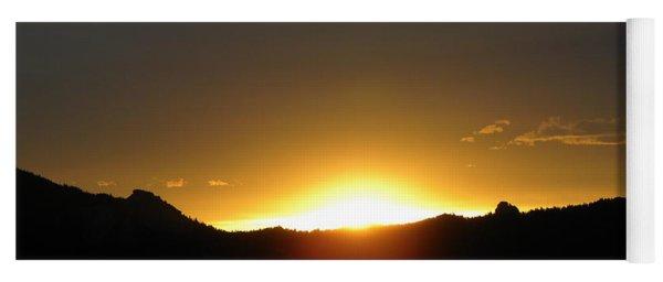 Sunrise West Side Of Rmnp Co Yoga Mat