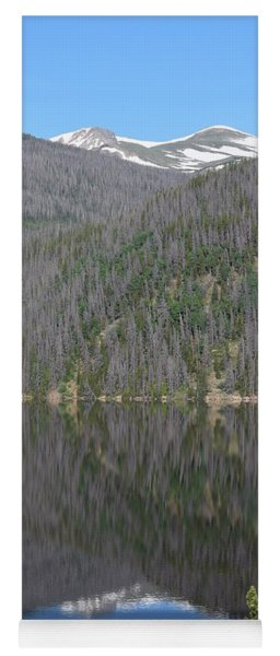 Chambers Lake Reflection Hwy 14 Co Yoga Mat
