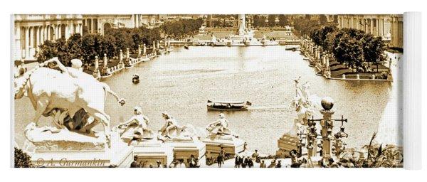 1904 World's Fair, Grand Basin View From Festival Hall Yoga Mat