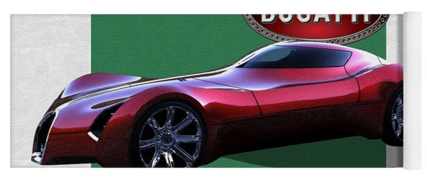 2025 Bugatti Aerolithe Concept With 3 D Badge  Yoga Mat