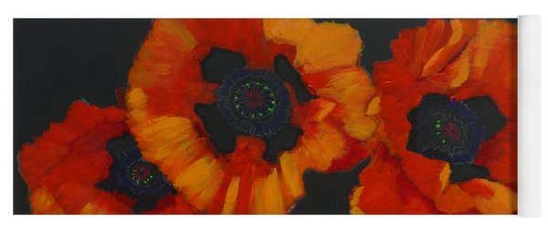 3 Poppies Yoga Mat