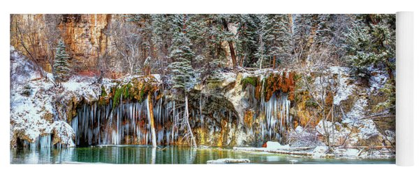 Olena Art Serene Chill Hanging Lake Photograph The Gem Of Glenwood Canyon Colorado Yoga Mat