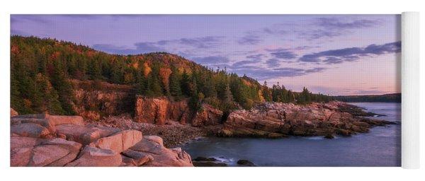 Yoga Mat featuring the photograph Acadia Sunrise by Sharon Seaward
