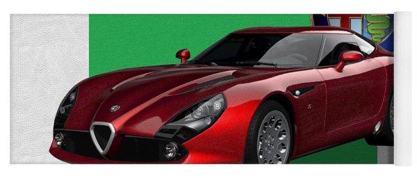Alfa Romeo Zagato  T Z 3  Stradale With 3 D Badge  Yoga Mat