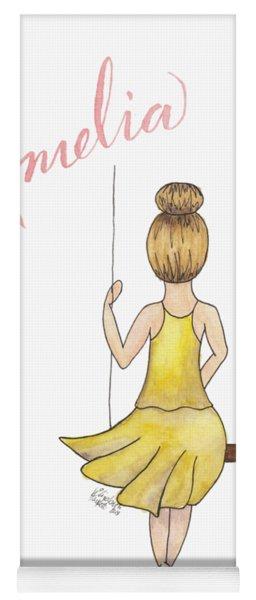 Amelia No Background Yoga Mat