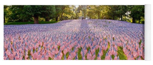 American Flags Yoga Mat