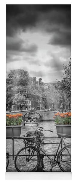 Amsterdam Gentlemen's Canal - Upright Panoramic View Yoga Mat