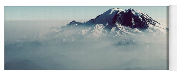 An Aerial View Of Mount Rainier Yoga Mat