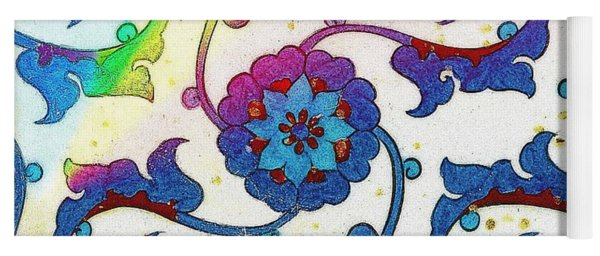 An Iznik Polychrome Tile, Turkey, Circa 1575, By Adam Asar, No 25a Yoga Mat
