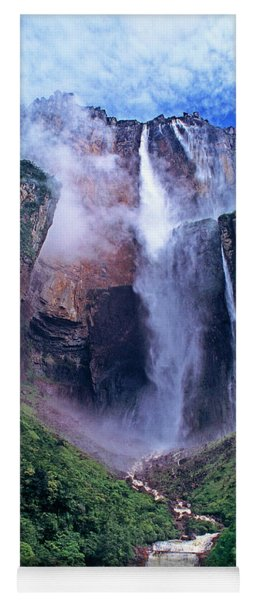Yoga Mat featuring the photograph Angel Falls In Canaima National Park Venezuela by Dave Welling