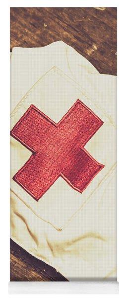 Antique Nurses Hat With Red Cross Emblem Yoga Mat