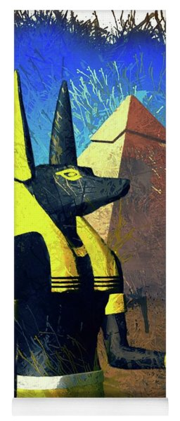 Anubis, God Of Egypt Yoga Mat