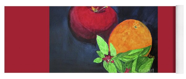 Apple, Orange And Red Basil Yoga Mat