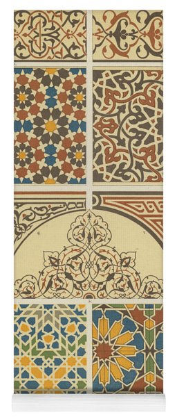 Arabian-moresque, Mosaic Textile Pattern Yoga Mat