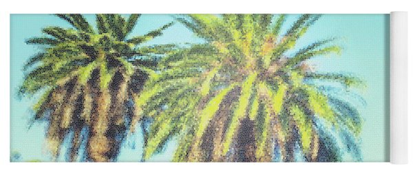 Art Deco Palms Yoga Mat