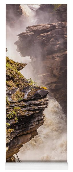 Yoga Mat featuring the photograph Athabasca Falls by Mark Mille